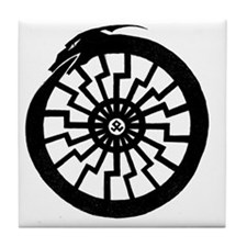 Serpentine Sun Wheel Tile Coaster