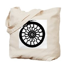 Serpentine Sun Wheel Tote Bag