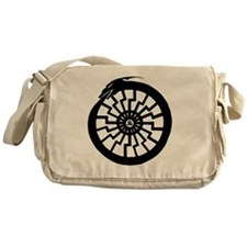Serpentine Sun Wheel Messenger Bag