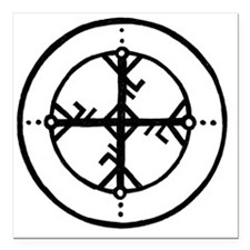 """Bind Rune Square Car Magnet 3"""" x 3"""""""