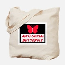 ANTI-SOCIAL BUTTERFLY Tote Bag