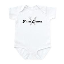 Fava Beans (fork and knife) Infant Bodysuit