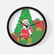 Santa With Presents Wall Clock