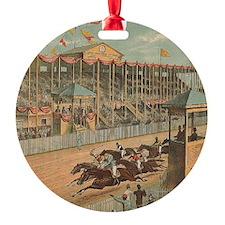 TOP Horse Racing Ornament