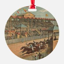 TOP Horse Racing Ornament