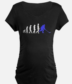 Hockey Evolution Maternity T-Shirt