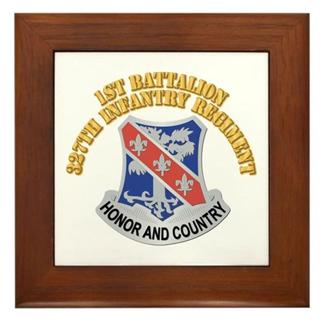 DUI - 1st Bn - 327th Infantry Regiment With Text F