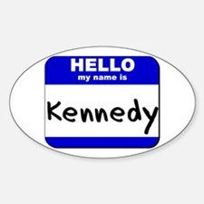 hello my name is kennedy Oval Decal