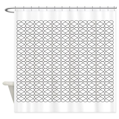 Brown Wire Hearts Shower Curtain by StylishHearts