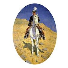 Frederic Remington: Self-Portrait on Oval Ornament