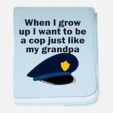 Cop Just Like My Grandpa baby blanket