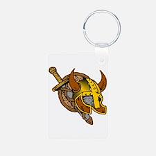 Helmet, Sword & Shield Keychains