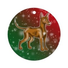 Pharaoh Hound Holiday Colors Ornament (Round)