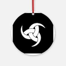 Odin Triple Horn Ornament (Round)