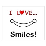 I Love Smiles Small Poster