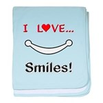 I Love Smiles baby blanket