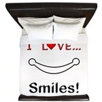 I Love Smiles King Duvet