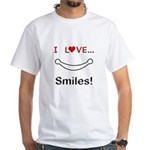 I Love Smiles White T-Shirt