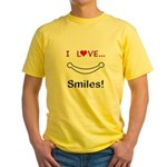 I Love Smiles Yellow T-Shirt
