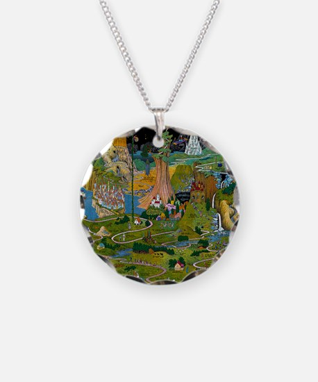The Land of Make Believe Map Necklace