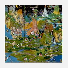 The Land of Make Believe Map v5400 Tile Coaster