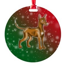 Pharaoh Hound Holiday Colors Ornament