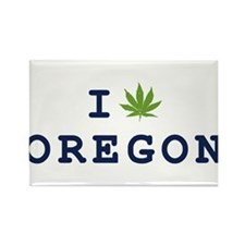 I (POT) OREGON Rectangle Magnet