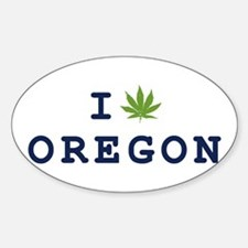I (POT) OREGON Oval Decal