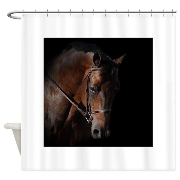 dark horse shower curtain by pphoto