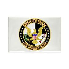 Minuteman Civil Defense - MCDC Rectangle Magnet
