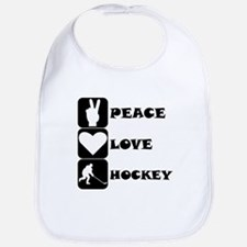 Peace Love Hockey Bib