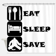 Eat Sleep Save Shower Curtain