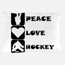 Peace Love Hockey Pillow Case