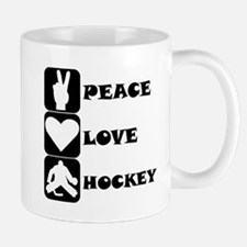 Peace Love Hockey Mugs
