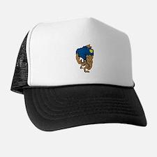 Cartoon Police Dog Trucker Hat