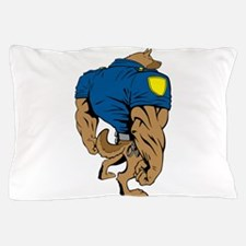 Cartoon Police Dog Pillow Case