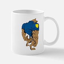 Cartoon Police Dog Mugs