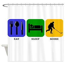 Eat Sleep Score Shower Curtain