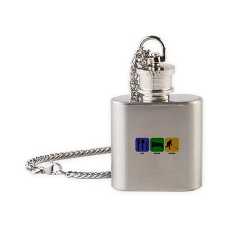 Eat Sleep Score Flask Necklace