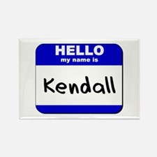 hello my name is kendall Rectangle Magnet