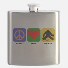 Peace Love Hockey Flask