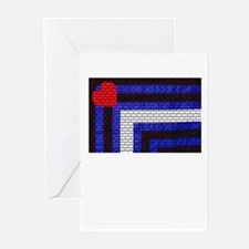 LEATHER FLAG VARIATION/DO ME Greeting Cards 10 Pk