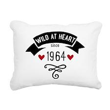 wild at heart since 1964 Rectangular Canvas Pillow