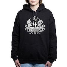 Great Dane grey black Hooded Sweatshirt