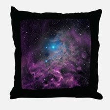 Flaming Star Nebula Throw Pillow