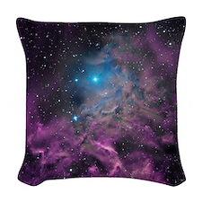 Flaming Star Nebula Woven Throw Pillow