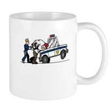 Police Arresting Criminal Cartoon Mugs