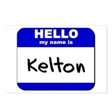 hello my name is kelton  Postcards (Package of 8)