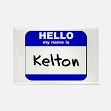 hello my name is kelton Rectangle Magnet