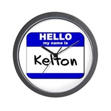 hello my name is kelton  Wall Clock